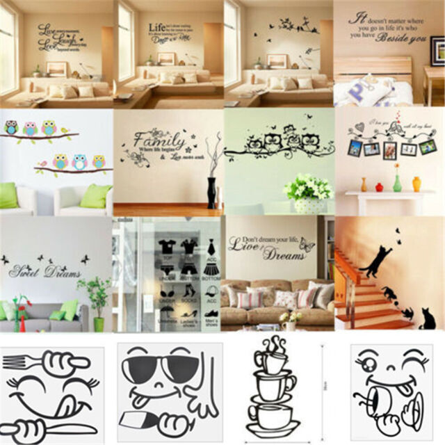 Cf57 Moon Paster Decal Office Art Room