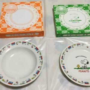 Peanuts x LAWSON Limited Snoopy Heart glass plate 4 pieces set Japan Original