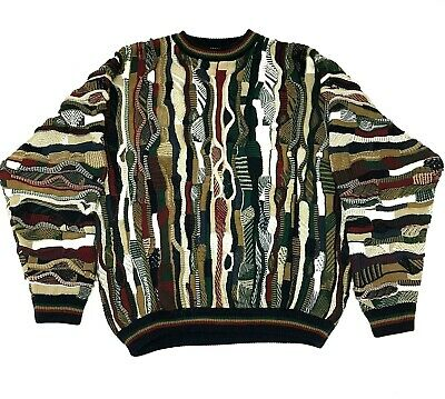 Vtg Cotton Traders XL Cosby Sweater Jumper Hip Hop Biggie MULTICOLOR | eBay