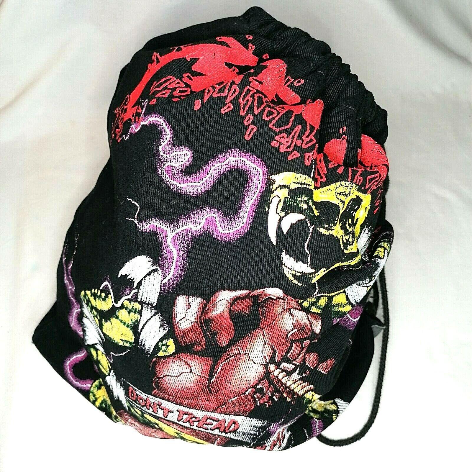 Metallica backpack Don't Treat on Me Vtg canvas Rockabilly meshka worek Rare