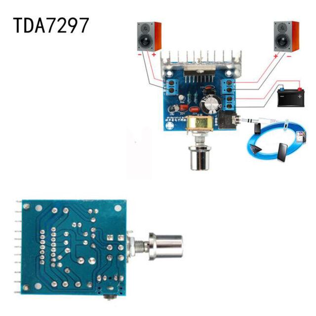 TDA7297 AC/DC12V 2*15W Dual-Channel Digital Stereo Audio Amplifier Board H