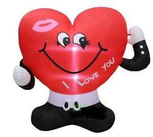 HEART I LOVE YOU VALENTINES DAY 5 FT AIRBLOWN INFLATABLE  DECORATION
