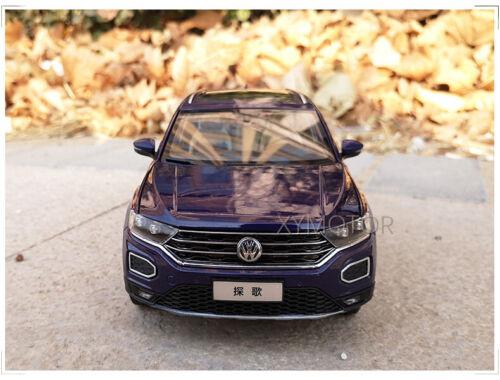 1//18 VW Volkswagen T-ROC T ROC SUV Diecast SUV CAR MODEL Toys kids gift White