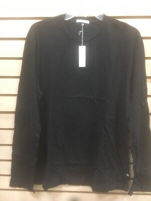JAMES PERSE Standard Men/'s L//S  Polo Shirt Black Cotton  USA Made MLJ3515