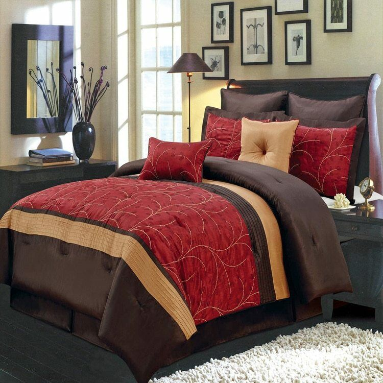 Vibrant Atlantis Nature Inspirot 6-8Pc rot Polyester Embroiderot Comforter Set