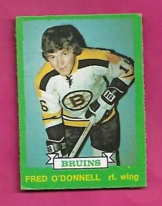 1973-74-OPC-223-BRUINS-FRED-ODONNELL-ROOKIE-EX-CARD-INV-A7969