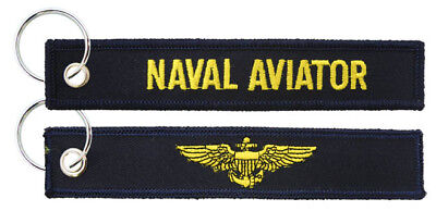 Collectibles Militaria Honey Navy Naval Aviator Officer Embroidered Fob Key Chain Excellent Quality