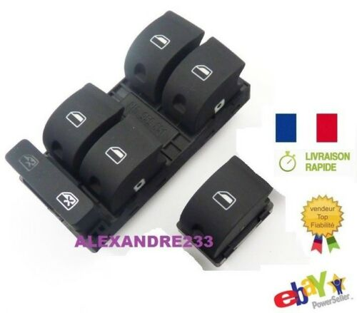 Bouton LEVE VITRE AUDI A4 CONDUCTEUR PASSAGE 8E0959851D 8E0959855 de france