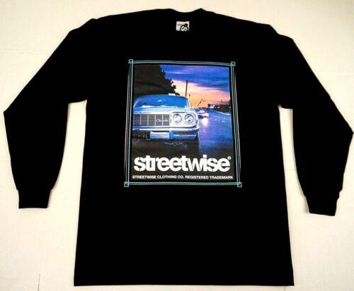 STREETWISE RIDIN/' DIRTY Long Sleeve T-shirt Urban Streetwear Men Tee New