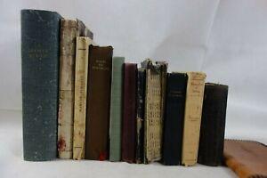 lot 11 livres religieux Psaumes 1896 Nouveau Testament Evangile Manuel Chrétien