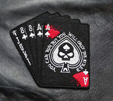 2 PC YOU CAN RUN ONLY BUT  DIE TIRED DEAD MAN'S HAND ACES MORALE HOOK LOOP PATCH