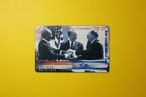 Israel-Bezeq-Telecard-Israel-Egypt-Peace-Collectibles-Old-Vintage-Phone-Card