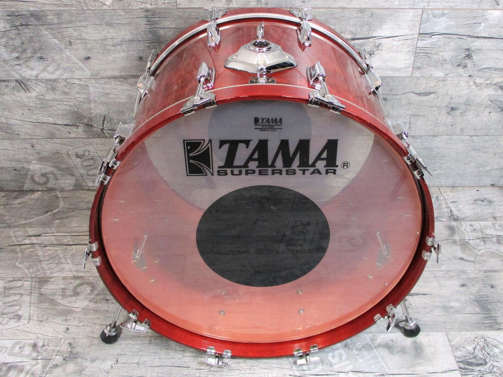 Tama Superstar 24  x 16   Bass Drum Vintage Cherry Wine  Made in Japan
