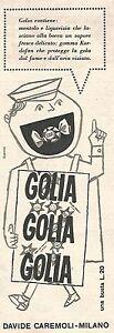 W8822-Caramelle-GOLIA-Pubblicita-del-1958-Vintage-advertising