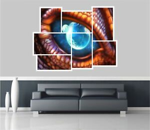 Huge-Collage-View-Fantasy-Dragon-Eye-Space-Wall-Stickers-Decal-Mural-691