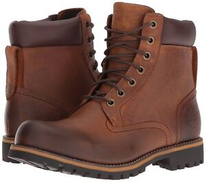Details about Men's Shoes Timberland Rugged 6 inch Waterproof Leather Boots 74134 Brown *New*