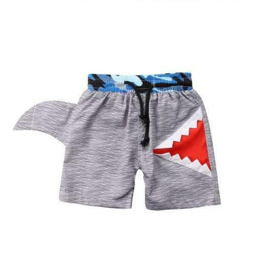 Free Shipping S-1322 Toddler Boys Shark Swim Trunks Ready to Ship from Ohio