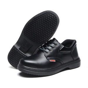 Work Safety Shoes Boots Full Grain Leather Anti-slippery Oil Proof 038