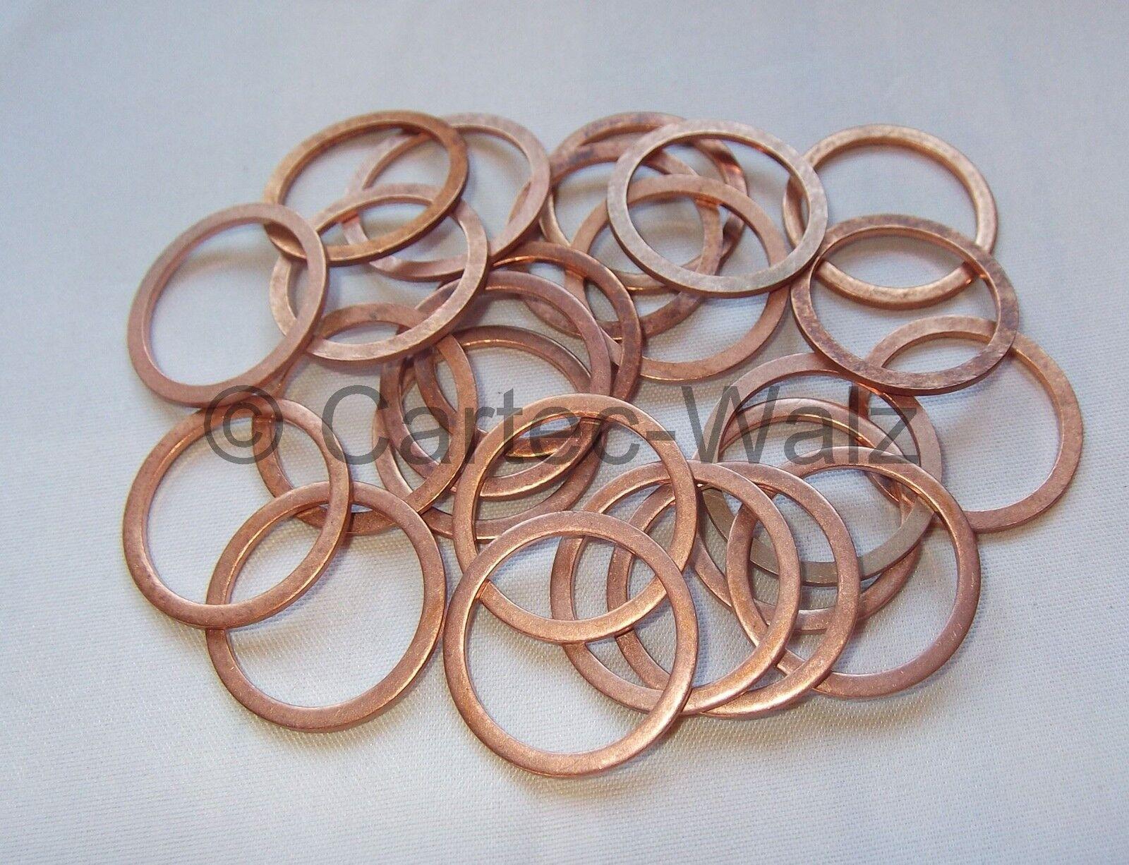 3 Stück Kupferdichtring  Dichtung Kupfer 22x29x1,5 mm DIN 7603  Form A