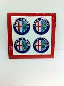 49mm-Wheel-Center-Emblem-Set-For-Alfa-Romeo-Spider-GTV-164-Milano-NEW-825