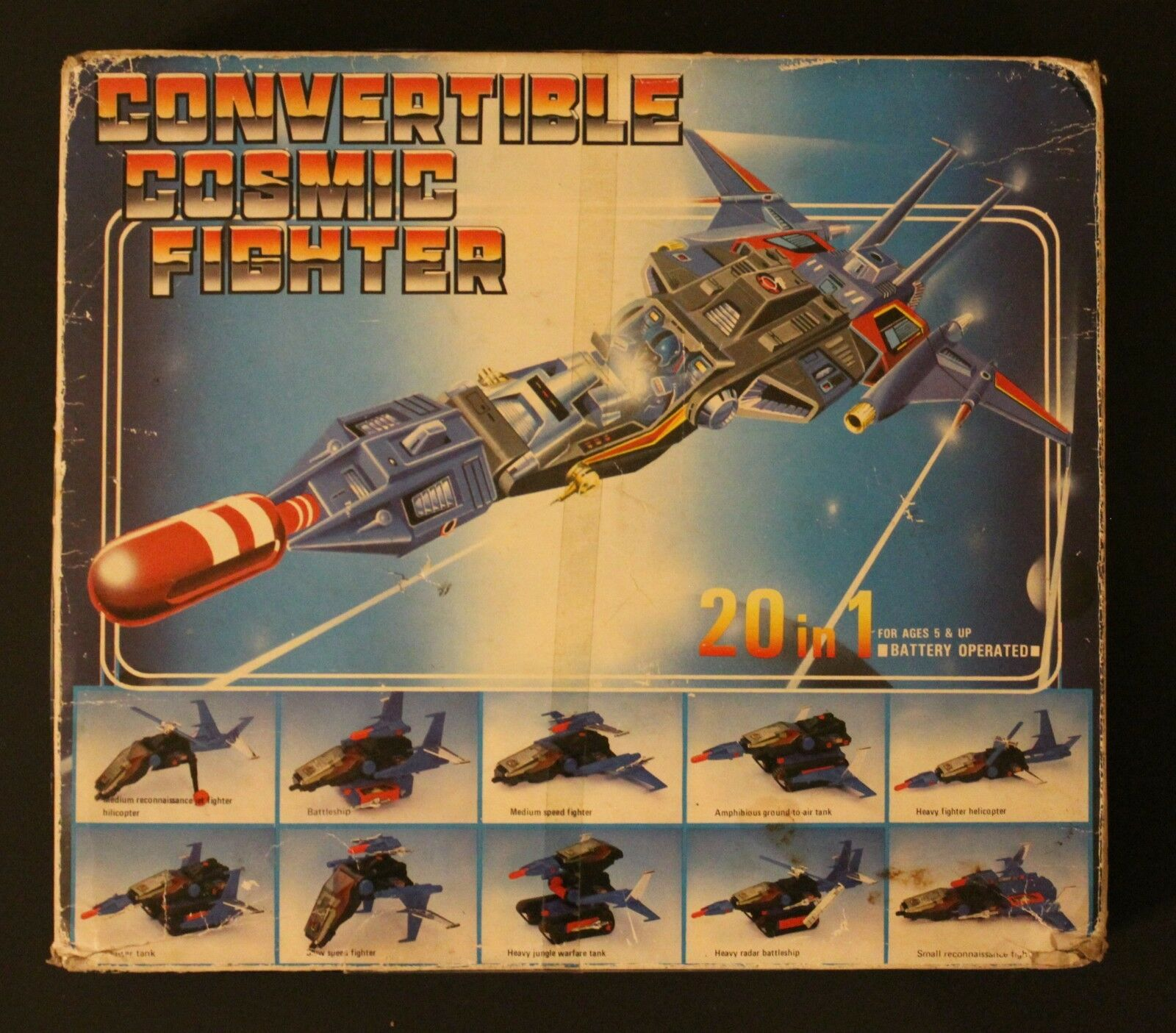 1984 Unbreed MICROuomo DELTARIAN FIGHTER  (CONverdeIBLE COSMIC FIGHTER) vehicle  salutare