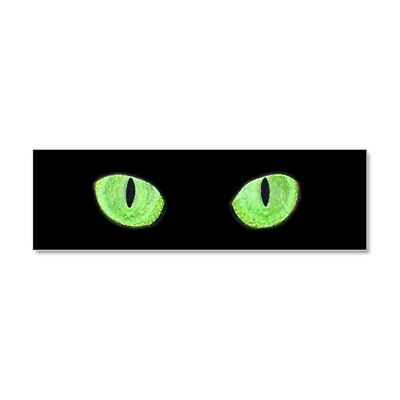 662488870 CafePress Green Cat Eyes Car Magnet 10 x 3 Magnetic Bumper Sticker