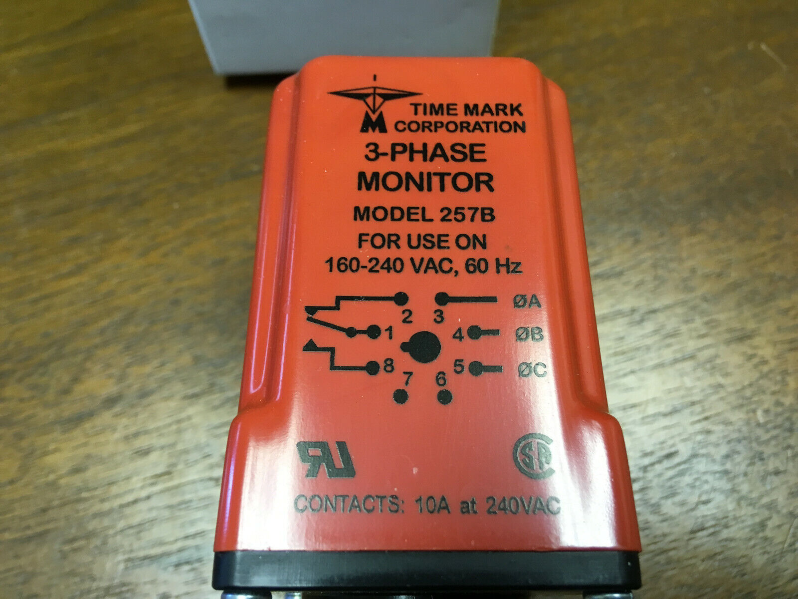 Time Mark 3-Phase Power Monitor model B2652 208 240 VAC 160-260 V NEW in BOX