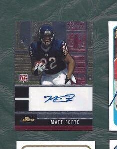 2008-Topps-Finest-autographed-football-card-Matt-Forte-Chicago-Bears