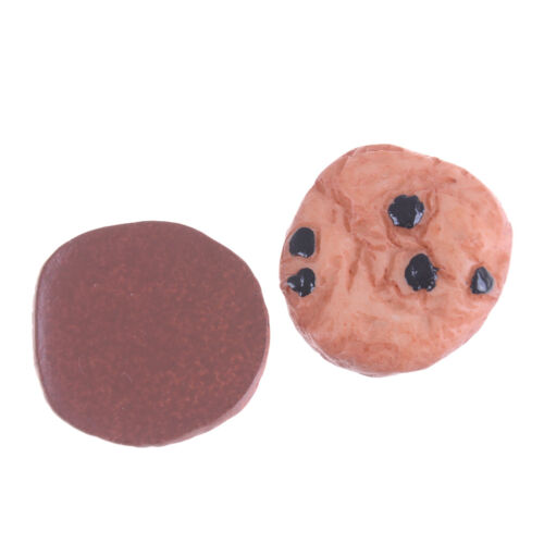 10Pcs Chocolate Chips Cookies Bakery 20mm Miniature Dollhouse Kitchen Deco BE