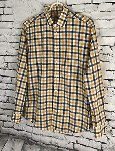 Brooklyn-Tailors-No-358-Grand-Mens-Plaid-Button-Down-Shirt-Size-1-XS