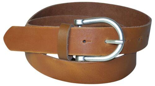 FRONHOFER Gürtel Damen 35mm Dornschnalle halbrund altsilber Gürtelschnalle Leder