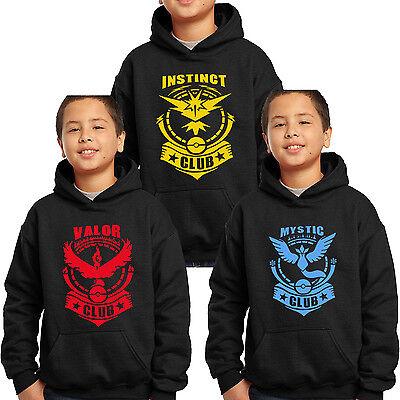 Pokemon Go CLUB Team Valor Team Mystic Team Instinct Pokeball Youth Kids T-shirt