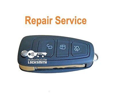 REPAIR SERVICE for Ford Focus Mondeo Fiesta Puma Ka 3 button remote key fob FIX