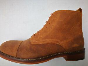 SALE-Hudson-Tan-Suede-Mens-Ankle-Boots-Size-8-UK-42-EU-BNIB