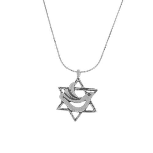 New Shablool Jewelry Charming Israel Sterling Silver 925 Pendant Necklace