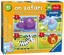 Mi Primer Puzzle En Safari 4 en una caja 2/3/4 / 5 Piezas Ravensburger Rompecabezas
