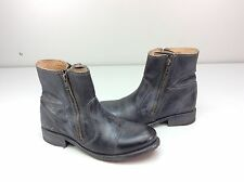 New without box Bed Stu Eiffel Ankle Boots Black Rustic/blue Leather 10 Moto