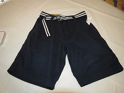 Men's 27 navy blue AEROPOSTALE Basic Belted Flat-Front Shorts NWT #0804 school