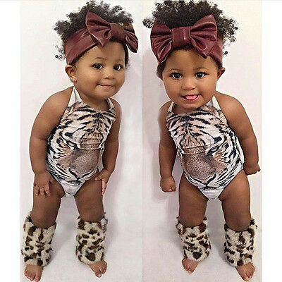 Cute Baby Girls Swimsuit Tiger Face Swimwear Bathing Suit 1PCS Rompers Costume