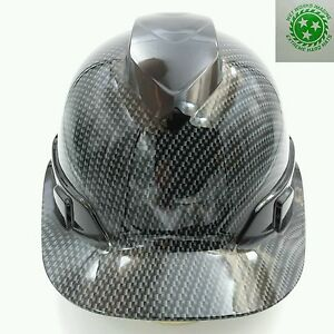 New PYRAMEX Hard Hat WITH Ratchet SUSPENSION MURDERED OUT CARBON FIBER SICK
