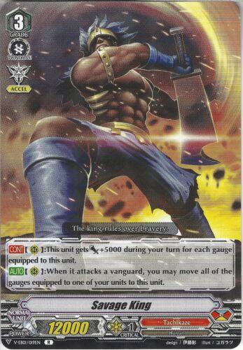Rare Card Savage King V-EB01//019EN R Cardfight Vanguard