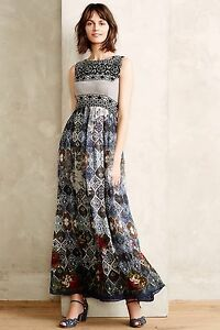 4e2bcead8be NEW Anthropologie Frost Cover Maxi Dress by Hemant   Nandita Size XS ...