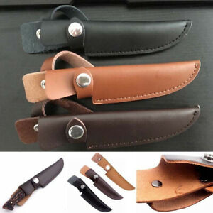Leather-Straight-Military-Scabbard-Case-Bag-Belt-Sheath-Cover-Fixed-Blade-Knife