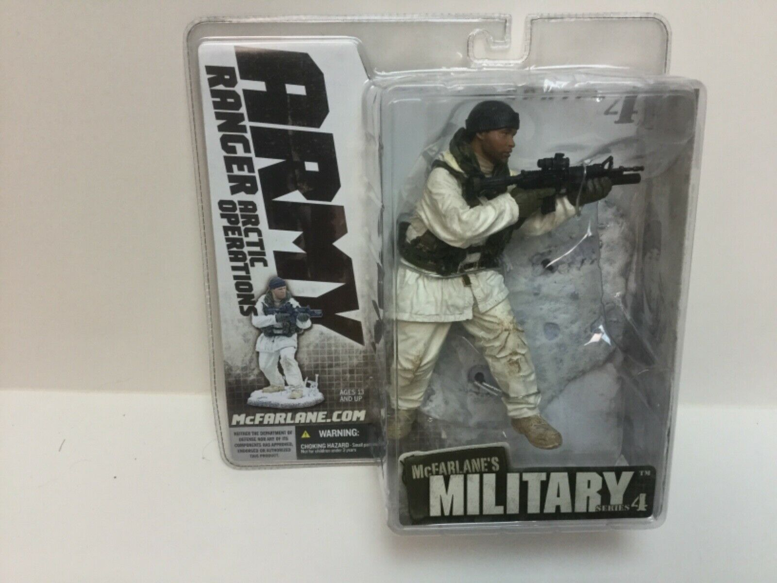 2006 McFarlane Military Series 4 Ethnic US Army Ranger Arctic Operations Figure