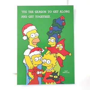 The Simpsons Christmas Card Bart Simpson Homer Marge Lisa Maggie Matt Groening