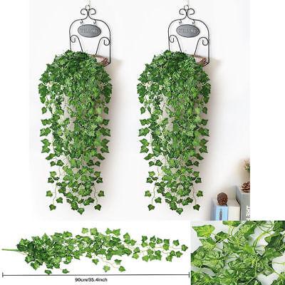 2.4M Efeu Künstliche Girlande Efeugirlande Efeuranke Kunstpflanze Grün