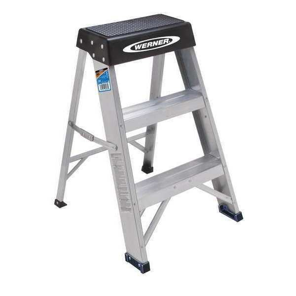 Magnificent Werner 150B 2 Steps Aluminum Step Stool 300 Lb Load Capacity Silver Black Gmtry Best Dining Table And Chair Ideas Images Gmtryco