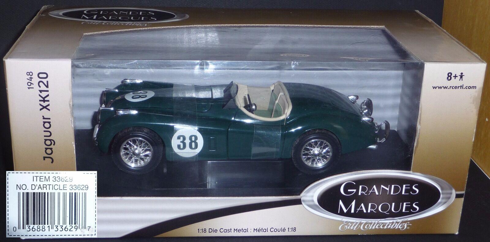 Jaguar xk 120 n ° 38   ann é e 1948   Farbe Grün   1   18   ertl collectibles 3362