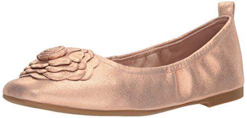 Taryn pink Womens pinklyn Powder Metallic Ballet Flat- Select SZ color.