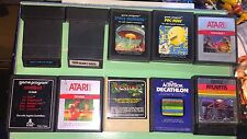Atari Lot of 10 Games Adventures of Tron Deadly Discs Space Invaders Decathlon
